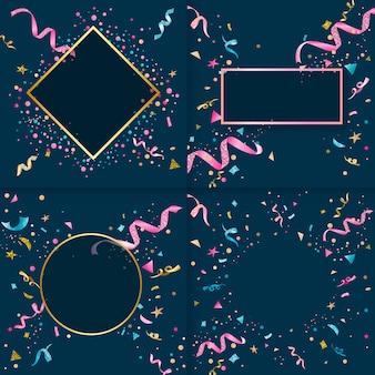 Collection de confettis colorés