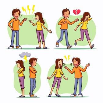 Collection de conflits de couple