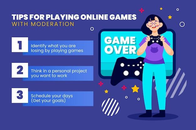 Collection de conseils pour jouer à des jeux en ligne avec modération