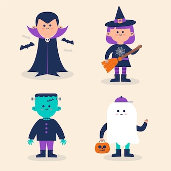 Collection de costumes pour enfants d'halloween