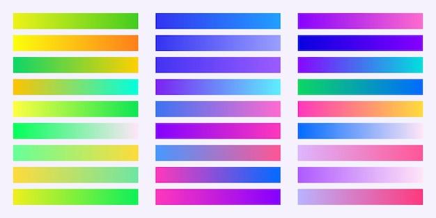 Collection de couleurs de dégradés à la mode
