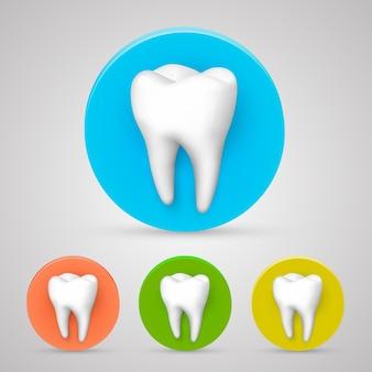 Collection de couleurs de jeu de dents, élément de conception de modèle. illustration vectorielle