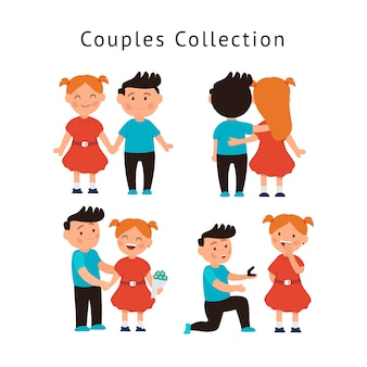 Collection couple amoureux