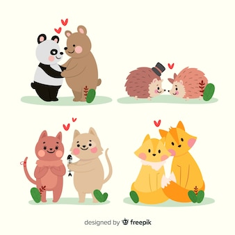 Collection de couple d'animaux
