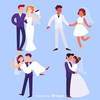 Collection de couple de mariage