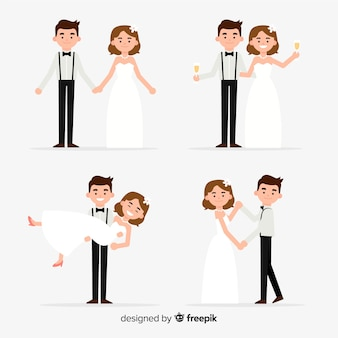 Collection de couple de mariage