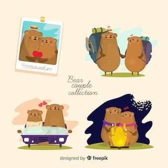 Collection de couple d'ours valentin