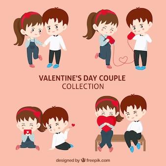 Collection de couple saint-valentin