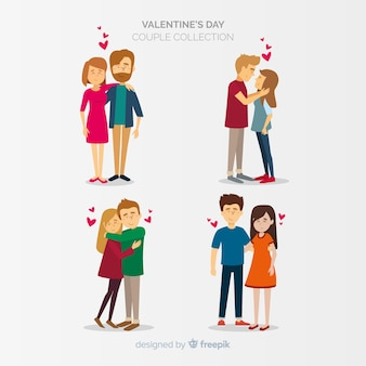 Collection couple valentine