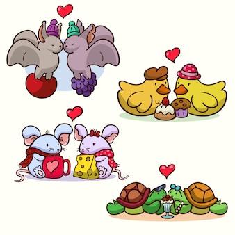 Collection de couples d'animaux