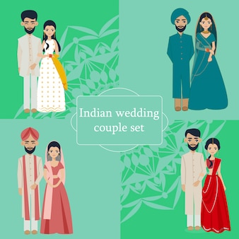 Collection de couples de mariage indien