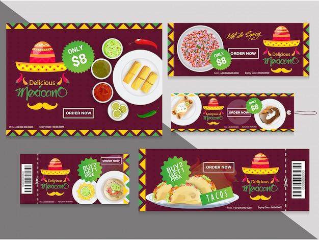 Collection de coupons ou d'étiquettes avec différentes offres de réduction