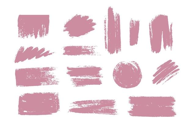 Collection de coups de pinceau d'encre
