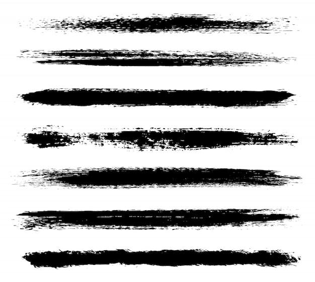 Collection de coups de pinceau noirs