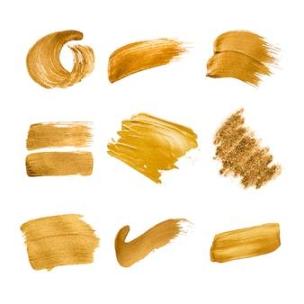 Collection de coups de pinceau d'or