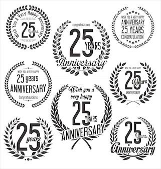 Collection de couronne de laurier anniversaire