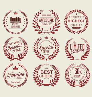 Collection de couronne de laurier de première qualité