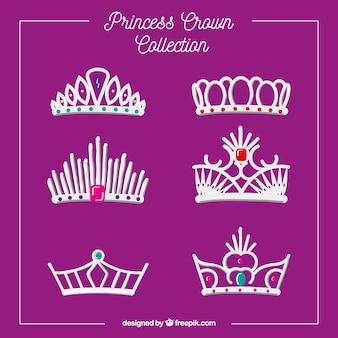 Collection de couronnes de princesse