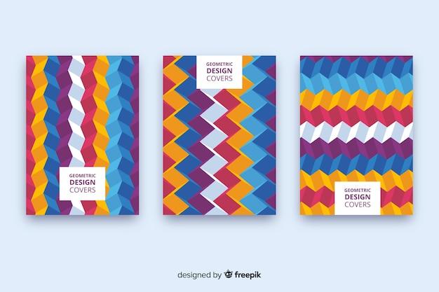 Collection de couvert avec dessin géométrique