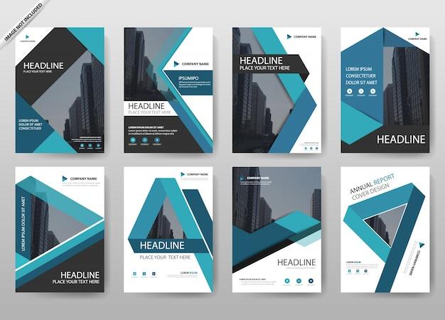 Collection de couverture du rapport annuel bleu