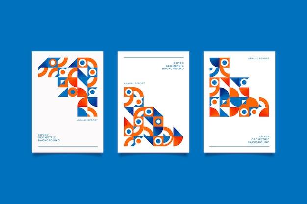 Collection de couverture géométrique rétro en mosaïque