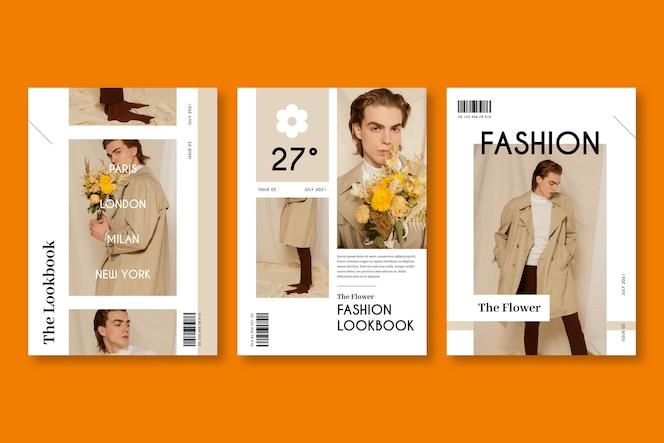 Collection de couverture de magazine avec photo