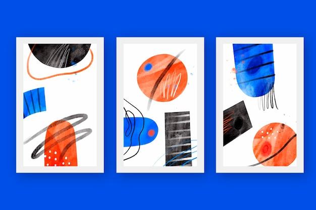 Collection de couvertures abstraites à l'aquarelle