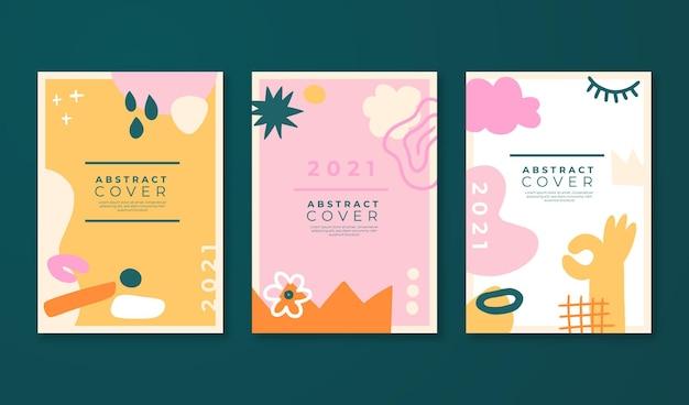 Collection de couvertures abstraites dessinées à la main