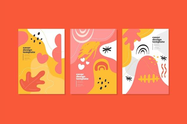 Collection de couvertures abstraites avec différentes formes