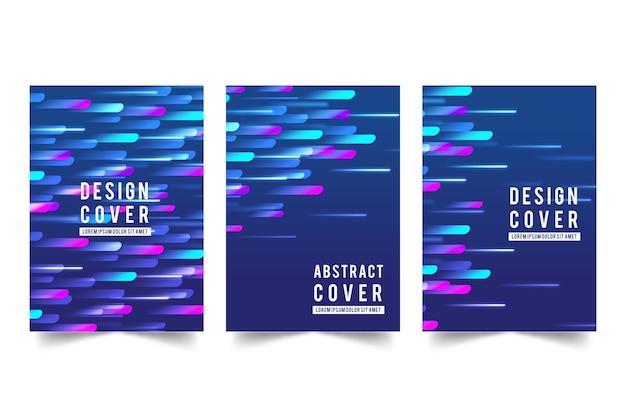 Collection de couvertures abstraites dynamiques