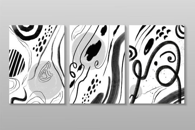 Collection de couvertures abstraites incolores