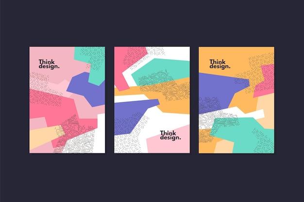 Collection de couvertures abstraites de memphis