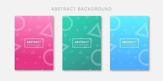 Collection de couvertures abstraites