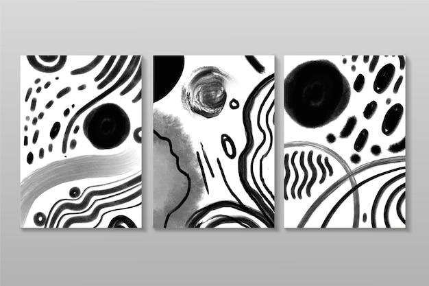 Collection de couvertures aquarelle abstraite incolore