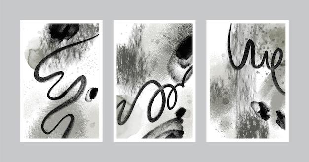 Collection De Couvertures Aquarelle Abstraite Incolore Vecteur gratuit