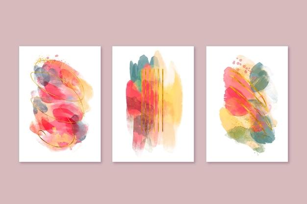 Collection de couvertures aquarelle abstraite