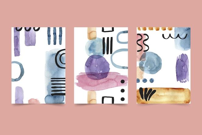 Collection de couvertures aquarelle