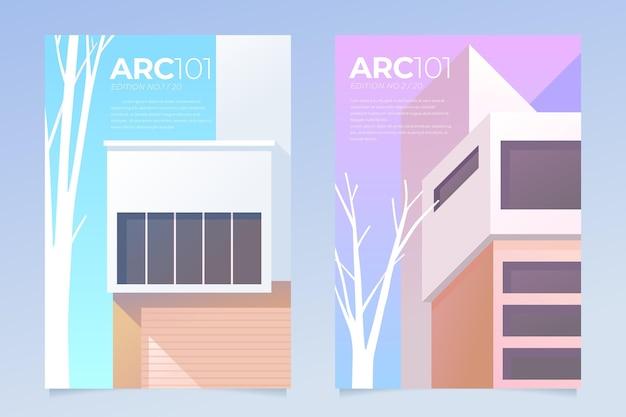 Collection de couvertures d'architecture minimale