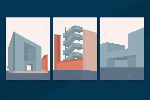 Collection de couvertures d'architecture de modèle minimal