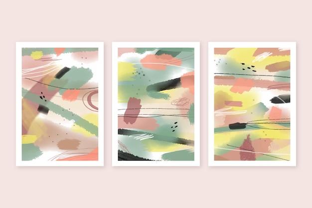 Collection de couvertures d'art abstrait dessinés à la main