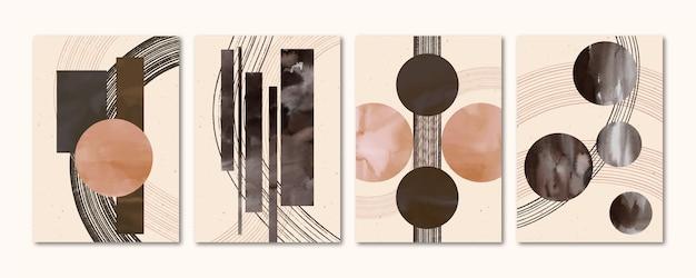 Collection de couvertures d'art abstrait peint à la main