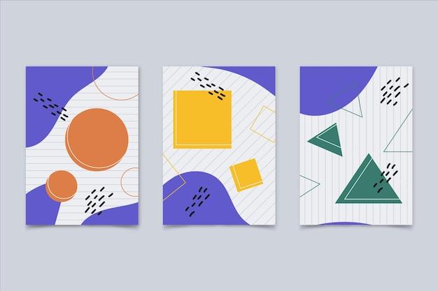 Collection de couvertures d'art abstrait plat