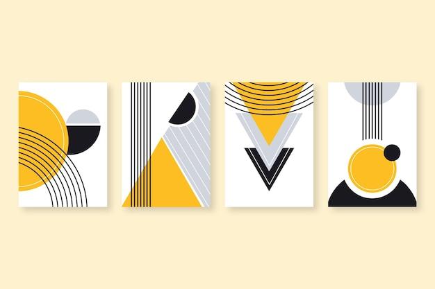 Collection de couvertures d'art abstrait