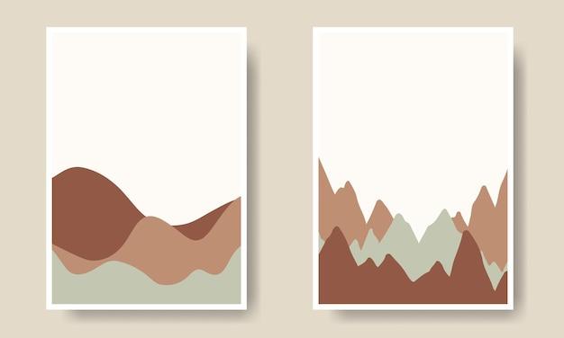 Collection de couvertures d'art mural en forme de paysage boho