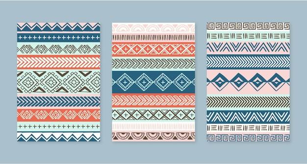 Collection de couvertures boho dessinées à la main