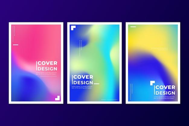 Collection de couvertures colorées abstraites