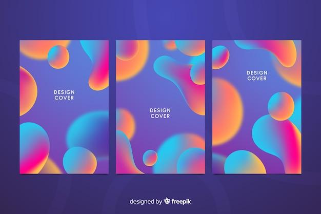 Collection de couvertures colorées à effet liquide