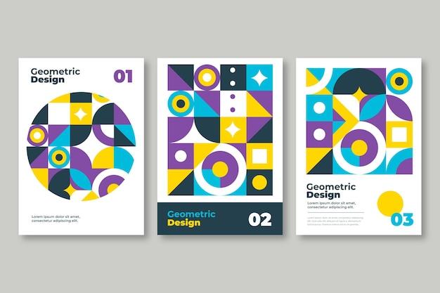 Collection de couvertures commerciales abstraites avec des formes géométriques