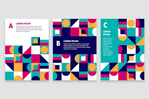 Collection de couvertures commerciales abstraites