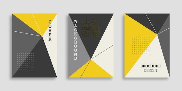 Collection de couvertures commerciales géométriques abstraites dans un style plat